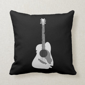 Distorted Abstract Acoustic Guitar Throw Pillow
