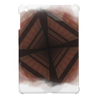 Distorted colorful checkers iPad mini cover