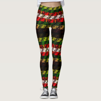 Distorted Joy and Jingle Winter Holiday Leggings