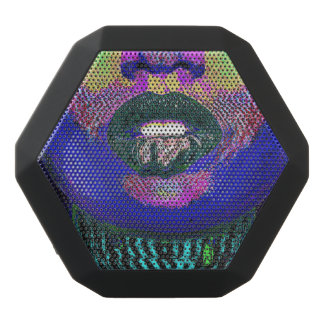 Distorted Lips Black Bluetooth Speaker