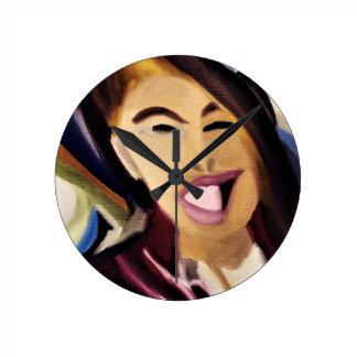Distorted Mix 2016 Round Clock