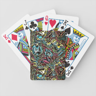 Distorted Reflection of Colors Bicycle Playing Cards