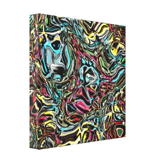 Distorted Reflection of Colors Canvas Print
