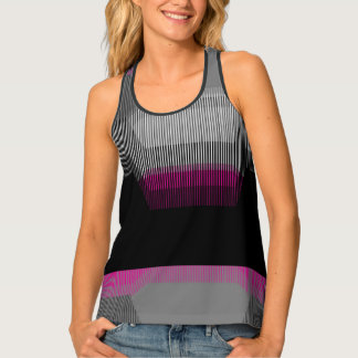 Distorted Stripes Tank Top