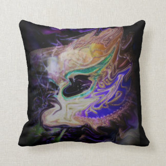 Distorted Tears Throw Pillow