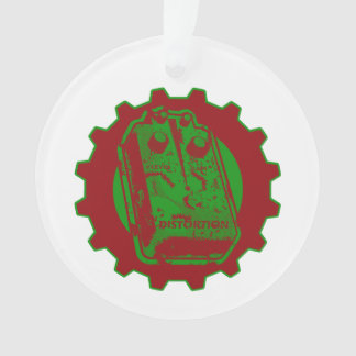Distortion Pedal Christmas Colors Ornament