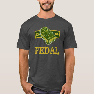 Distortion PEDAL - Green & Mustard Distressed T-Shirt