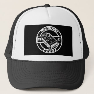 Distortion Pedal -On Black Trucker Hat