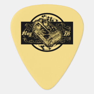 Distortion Pedal Plug In Gold Guitar Pick
