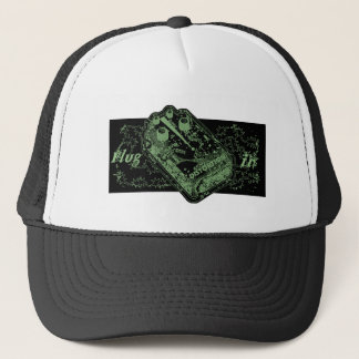 Distortion Pedal Plug In Green Trucker Hat