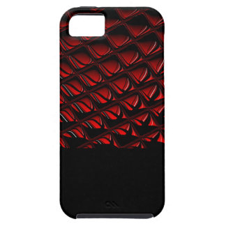 Distortion red and black abstract art iPhone 5 cover