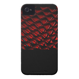 Distortion red and black abstract art iPhone 4 cases