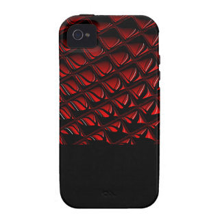 Distortion red and black abstract art case for the iPhone 4