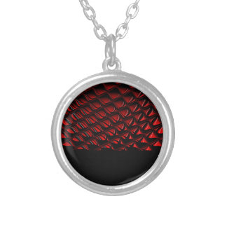 Distortion red and black abstract art pendant