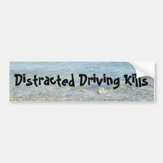 Distracted Driving Kills Bumper Sticker