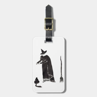 Distracted Witch Luggage Tag