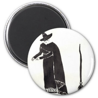 Distracted Witch Magnet