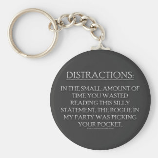 Distractions Keychain