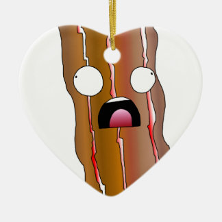 Distress Bacon Swag Ceramic Ornament