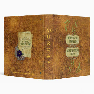 Distress Vintage Mustard w/Fern Photo Album Binder