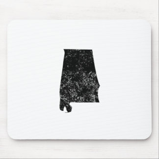 Distressed Alabama Silhouette Mouse Pad