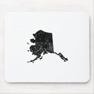 Distressed Alaska Silhouette Mousepads