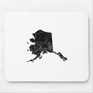 Distressed Alaska Silhouette Mousepads