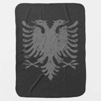 Distressed Albanian Eagle Coat Of Arms Stroller Blankets