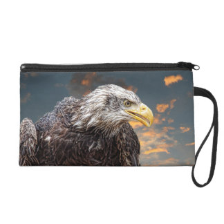 Distressed American Eagle Photography Print Wristlet Purse