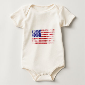 Distressed American Flag Baby Bodysuit