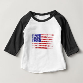 Distressed American Flag Baby T-Shirt