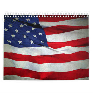 Distressed American Flag Calendars