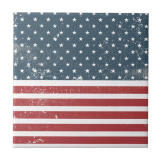 distressed american flag ceramic tiles