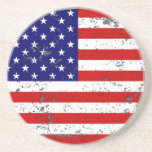 Distressed American Flag Coaster