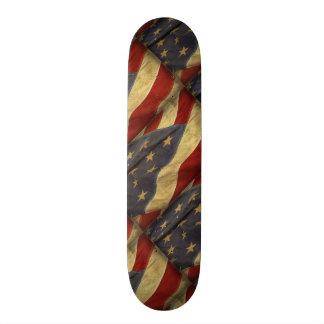 Distressed American Flag Custom Skate Board