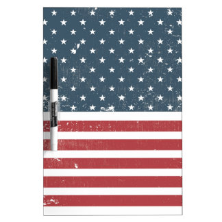 distressed american flag Dry-Erase board