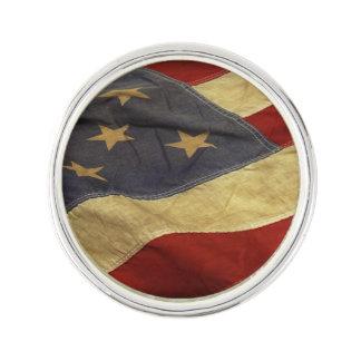 Distressed American Flag Lapel Pin