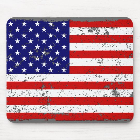 Distressed American Flag Mousepad