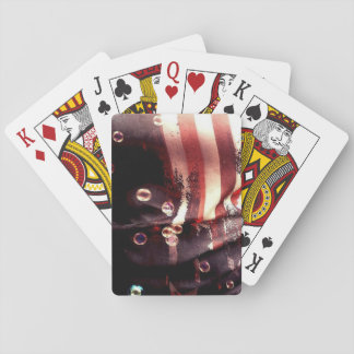 Distressed American Flag Playing Cards