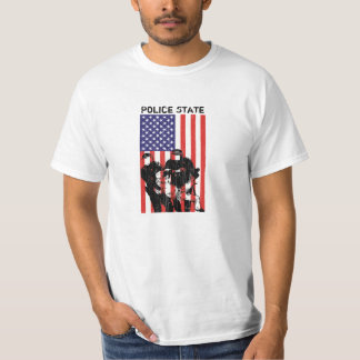 Distressed American Flag Police State T-Shirt