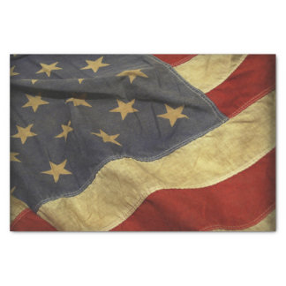 Distressed American Flag Tissue Paper