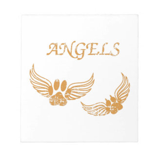 Distressed Angel Pet Paws Notepad