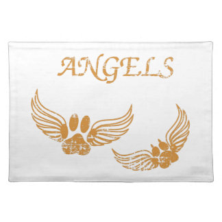Distressed Angel Pet Paws Placemat