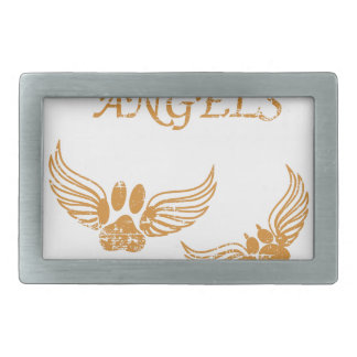 Distressed Angel Pet Paws Rectangular Belt Buckles