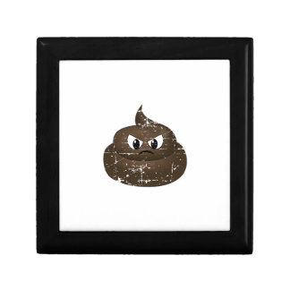 Distressed Angry Cartoon Poop Gift Box