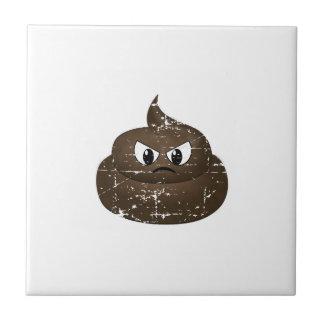 Distressed Angry Cartoon Poop Tile