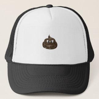 Distressed Angry Cartoon Poop Trucker Hat