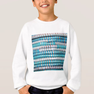 Distressed Aqua Blue Basket Weave Rope - Nautical Sweatshirt