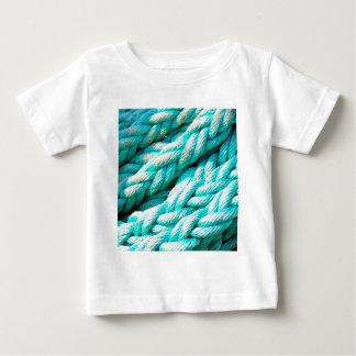 Distressed Aqua Blue Boat Rope - Nautical Print Baby T-Shirt