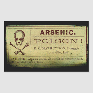 Distressed Arsenic Label